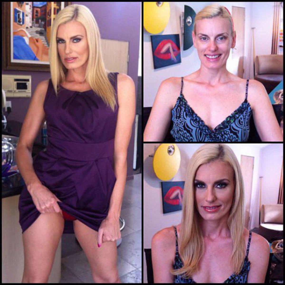 Actrices Porno Extremo actrices porno antes y después de maquillarse   fotogalería