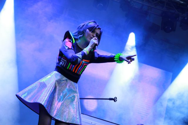 La Dj colombiana emocionó a todos los asistentes del festival con sus reconocidas mezclas.