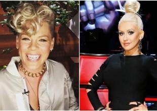 Pink reveló el intento de agresión que recibió de Christina Aguilera en el pasado